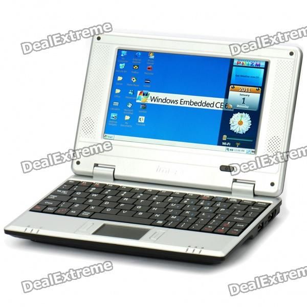 "7"" TFT LCD Windows CE 6.0 VIA8650 CPU Wi-Fi UMPC Netbook - Black (349.79MHz/2GB/3xUSB/SD/LAN)"