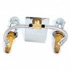 Modern Brass Bathroom Sink Waterfall Faucet