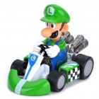 Cute Mario Figure Pull-Back Car - Luigi
