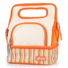 Fashion Insulated Lunch Picnic Tote Bag w/ Container