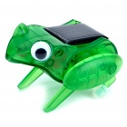 Cute Solar Powered Jumping Frog - Transparent Green