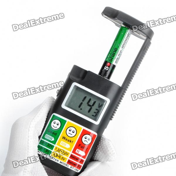 2 Battery Tester : Quot lcd digital high accuracy battery tester aaa