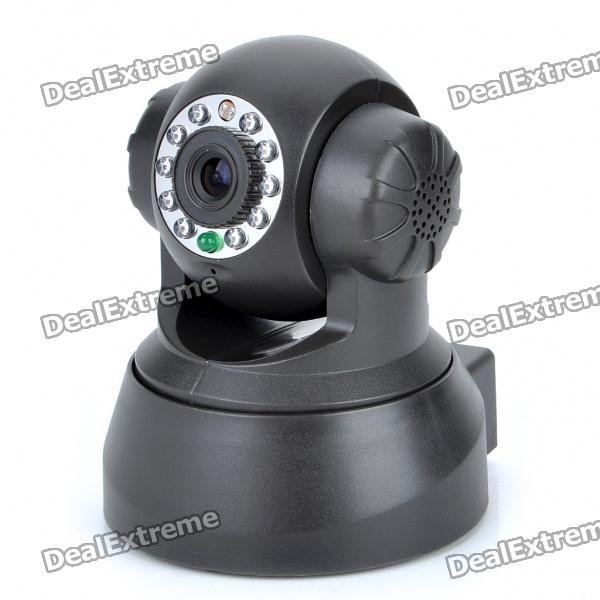 300KP Network Surveillance IP Wired Camera w/ 10-LED Night Vision / Pan/Tilt Motors / Microphone