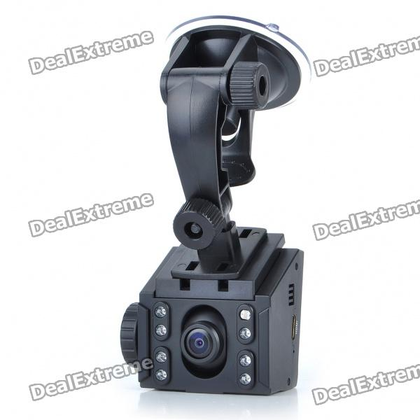 3.0MP 720P Wide Angle Car DVR Camcorder w/ 8-LED IR Night Vision/SD/HDMI/Mini USB (2.5
