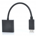 Genuine PowerSync DisplayPort DP Male to DVI Female M/F Adapter Cable (16CM-Length)