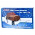 Green + Red Laser Stage Lighting Projector with Music Active/Auto Mode