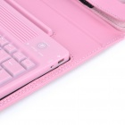 KB-6119H 76-Key Wireless Bluetooth Keyboard with Folding Leather Case for Ipad/Ipad 2 (Pink)