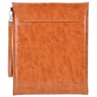 Cool Protective PU Leather Bag with Strap for Ipad 2 - Brown