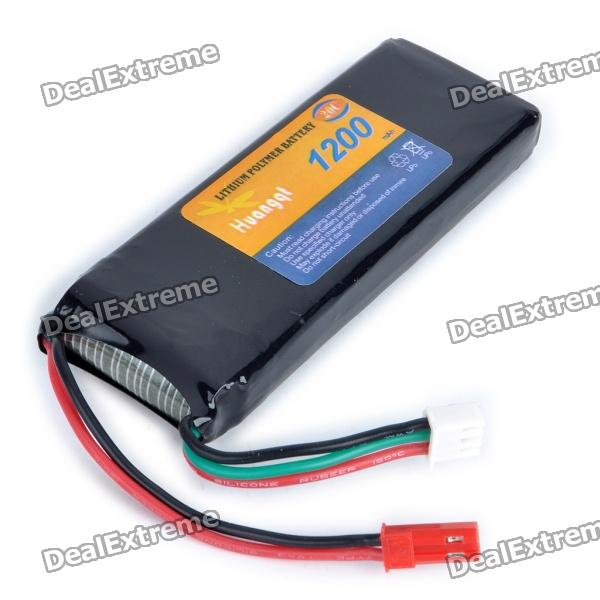 7.4V 1200mAh Lithium Polymer Lipo Battery Pack for 4-CH R/C Helicopters