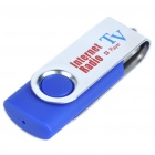Compact USB Worldwide Internet TV/Radio/Games/MTV/Movie Player Dongle - Blue