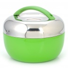 Stylish Apple Shaped Stainless Steel Heat Preservation Dinner Bucket - Green