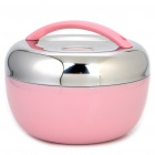 Stylish Apple Shaped Stainless Steel Heat Preservation Dinner Bucket - Pink