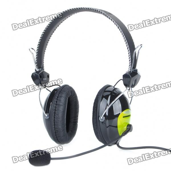 Hi-Fi Stereo Headset w/ Microphone/Volume Control (2M-Length Cable)