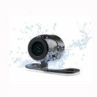 Wide Angle Mini Vehicle Car Rear View Waterproof Video Camera w/2-LED Night Light (12V)