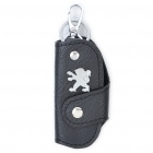 Protective Vehicle Logo PU Leather Pouch for Car Smart Key - Peugeot