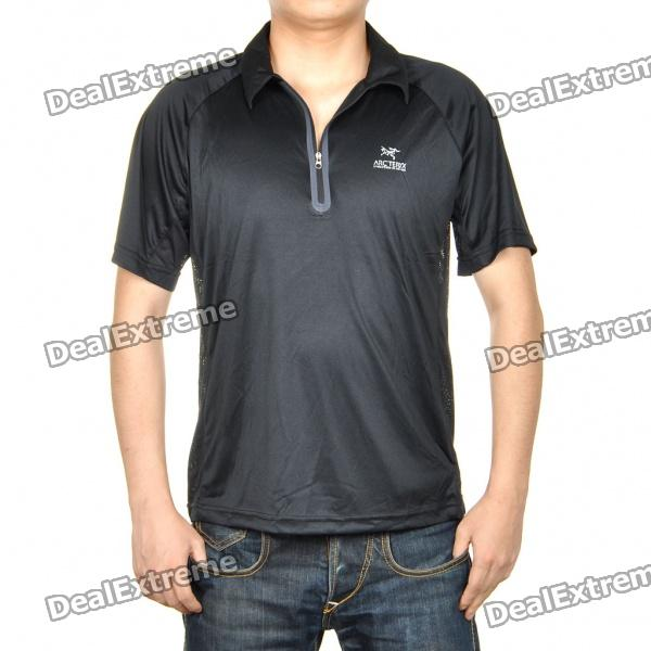 Fashion Sun Protective Quick Dry Short Sleeve T-Shirt - Black (Size XL)
