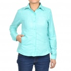 Fashion Women's Sun Protective Quick Dry Shirt - Cyan (Size XL)