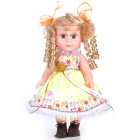 Cute Doll with Skirt & Curly Hair (Simulation Skin)