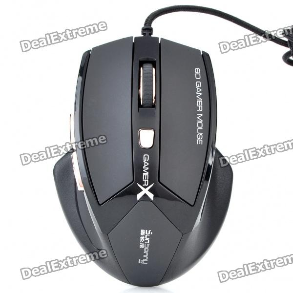 USB Variable Speed ​​600/1000/1600/2400 DPI Gaming Mouse (145cm-Kabel)