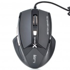 USB Variable Speed 600/1000/1600/2400 DPI Gaming Optical Mouse (145CM-Cable)