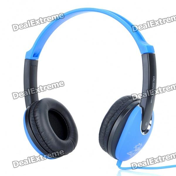 Hi-Fi Stereo Headset with Microphone and Volume Control - Black + Blue (200CM Cable) stylish headset w microphone volume control for dell mini 5 streak 3 5mm jack 120cm cable