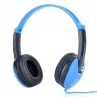 Hi-Fi Stereo Headset with Microphone and Volume Control - Black + Blue (200CM Cable)