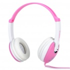 Hi-Fi Stereo Headset with Microphone and Volume Control - Pink + White (200CM Cable)