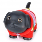 Lovely Puppy in Clothes Saving Coins Money Bank - Black