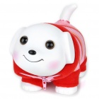 Lovely Puppy in Clothes Saving Coins Money Bank - White