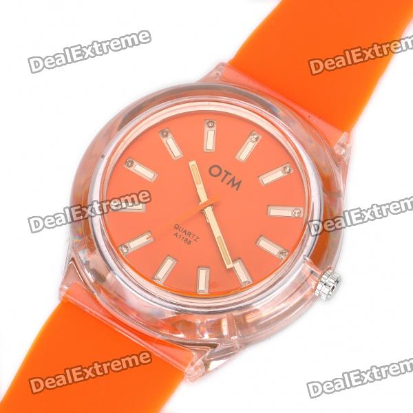 Fashion Sports Silicone Water Resistant Quartz Wrist Watch - Random Color (1 x 377)