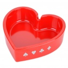 Unique Poker Suit Style Melamine Ashtray - Heart