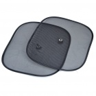 Foldable Car Black Mesh Side Window Sun Shades with Suction Cups (44 x 36CM/2-Pack)