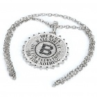 Men's Hip-Hop B Letter BlingBling Pendant Chain Necklace
