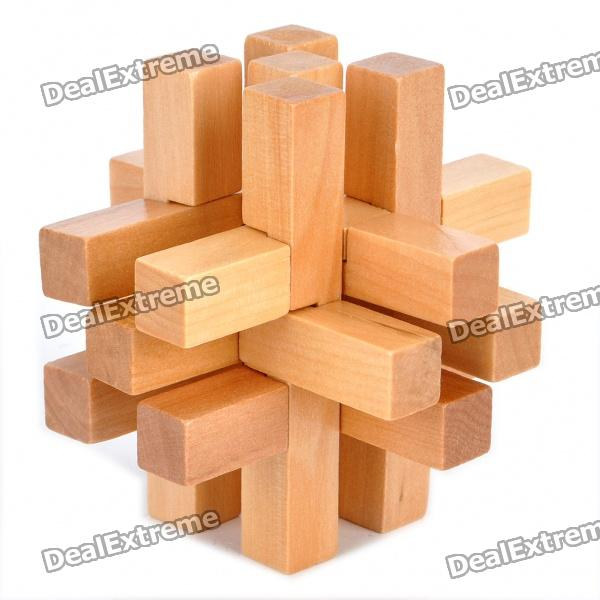 Wooden 14-Piece Lock Puzzle Brain Teaser IQ Toy dayan mf8 4x4x4 brain teaser magic iq cube