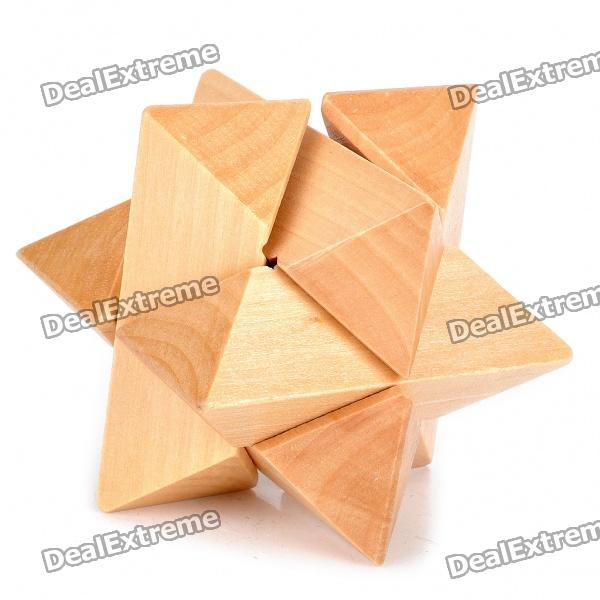 Wooden Octagonal Ball Puzzle Brain Teaser IQ Toy