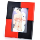 Stylish Melamine Ceramic Photo Frame - Red + Black (128 x 89mm)