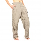 Outdoor Quick Dry Sun Protective Zip Off Pants - Khaki (Size S)