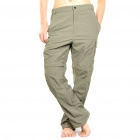 Outdoor Quick Dry Sun Protective Zip Off Pants - Army Green (Size S)