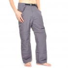 Outdoor Quick Dry Sun Protective Zip Off Pants - Dark Grey (Size XL)