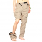 Outdoor Quick Dry Sun Protective Zip Off Pants - Light Army Green (Size M)
