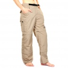 Outdoor Quick Dry Sun Protective Zip Off Pants - Light Army Green (Size XL)