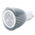 GU10 3500K 9W 420-Lumen 3-LED Warm White Light Bulb (85~265V)