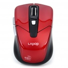 Lapop 2.4 GHz Wireless 5000/1000DPI USB Optical Mouse w/ Receiver - Red (2 x AAA)