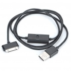 USB Charging/Data Cable w/ Switch for Samsung P1000 - Black (95CM-Length)