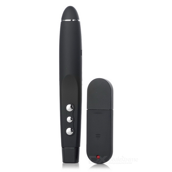USB RF Wireless Presenter w/ Red Laser Pointer - Black (1 x AAA)