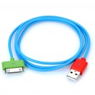 USB Charging/Data Cable for iPhone 2G/3G/3GS/4 - Blue (97CM-Length)