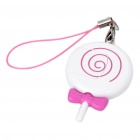 Cute Mini Lollipop Shaped USB TF/Micro SD Card Reader w/ Cell Phone Strap - Purple