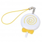 Nette Mini Lollipop Shaped USB TF / Micro SD Card Reader w / Cell Phone Strap - Gelb