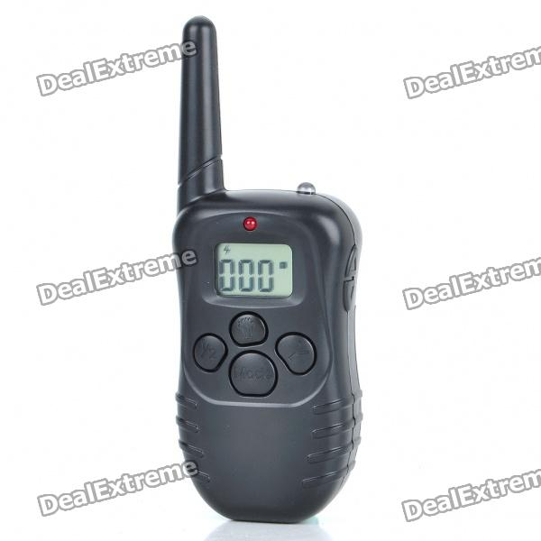 "Rechargeable Waterproof Bark-Control Dog Collar with 0.9"" LCD Remote Controller"