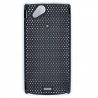 Mesh Protective PC Plastic Back Case for Sony Ericsson Xperia ARC LT15i X12 - Black